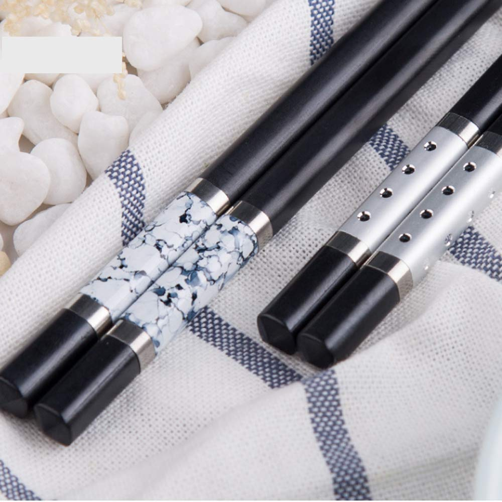 KaLaiXing 5 Pairs Beautiful Pattern Alloy Stainless Steel Chinese Style Chopsticks. Stainless Steel Alloy chopsticks-Hj02