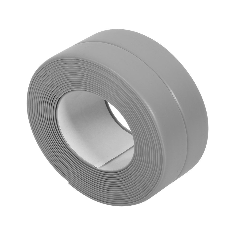 BingQing brand Tub And Wall Caulk Strip. Kitchen Caulk Tape Bathroom Wall Sealing Tape Waterproof Self-Adhesive Decorative Trim-grey