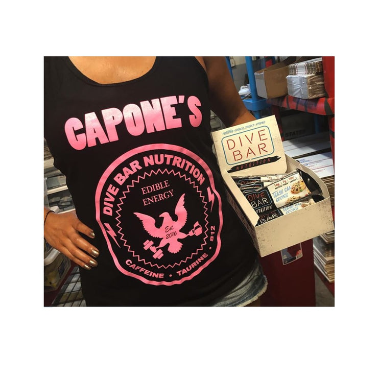 CAPONES Ladies Racer Tank - Black