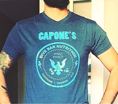 Men's CAPONE'S DIVE BAR NUTRITION Blue T-Shirt