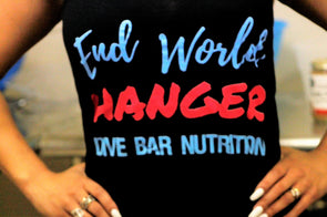 END WORLD HANGER Black Racer Tank (Ladies cut)
