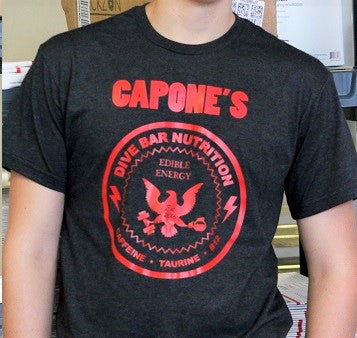 Men's CAPONE's DIVE BAR NUTRITION Charcoal T-Shirt