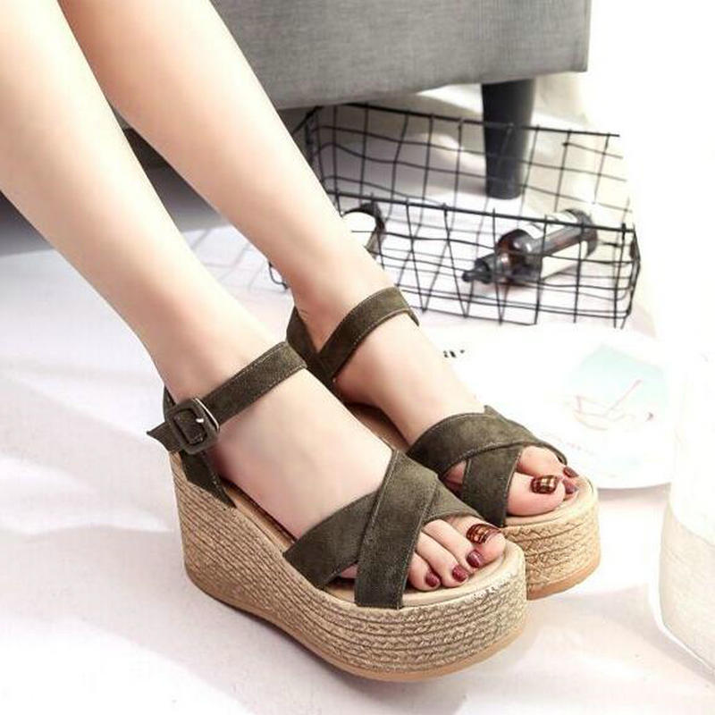 New 2018 Summer Women Nubuck Sandals Casual
