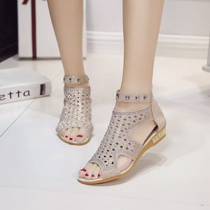 2018 Summer! - New Cute & Delicate Crystal Roman Style Sandals In 3 Summer's Colors