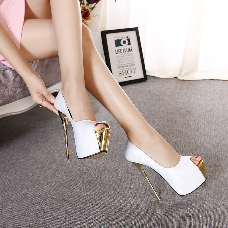 Luxurious & Fancy High Heel Peep Toe Style - 3 Exiquisite Color For Look so Elegant