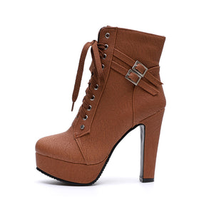 ¡New Perfect Timbs Style 2018¡ - Ankle Boots Casual For Ladies with Lace Up