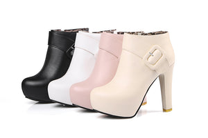 ¡Delicious & Exquisite High Heel Boots For Ladies! - In 4 Perfect Colors & Sizes