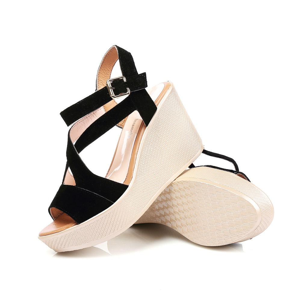 High Heels Sandals Women Summer Shoes Slip-On Open Toe