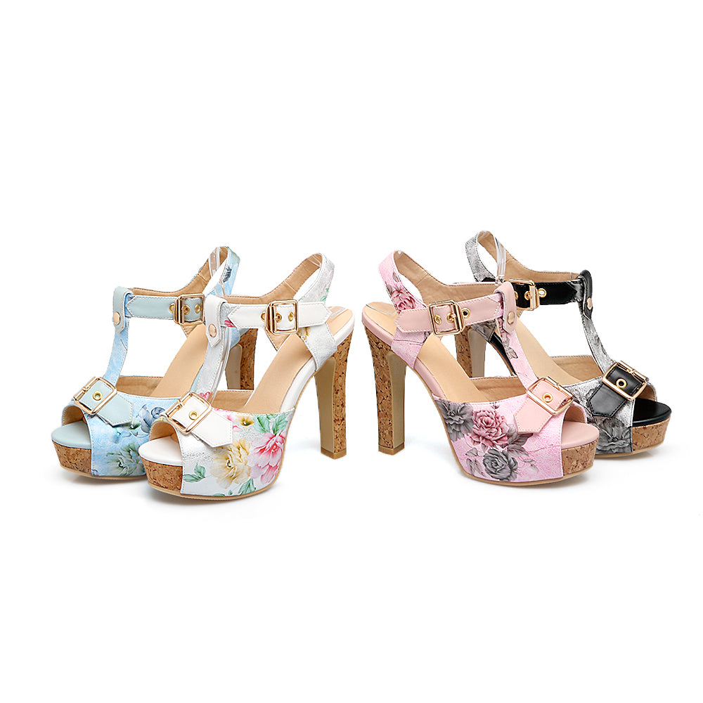 Coquette Floral Sandal Peep Toes 2018 With High Heel | 4 Beautyful Colors