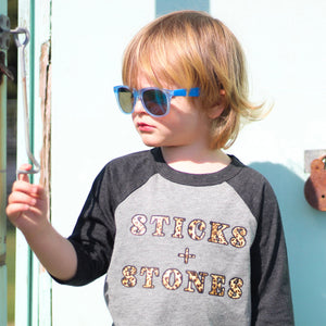 Sticks + Stones Kids Baseball T-Shirt