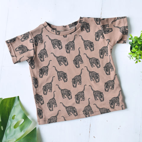 'Lion Cub' Kids T-shirt - Olive Green