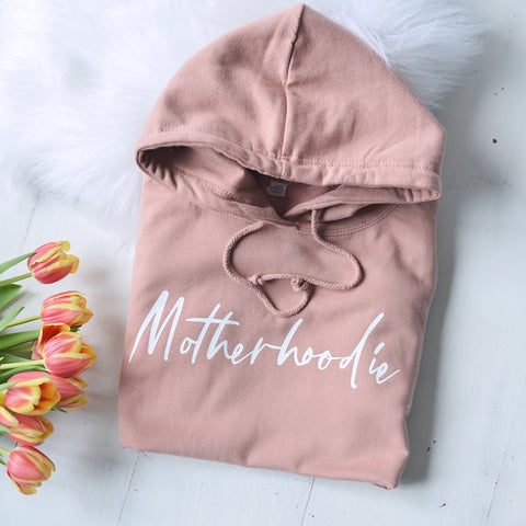 Animal Print Motherhoodie - Retro Slogan Hoodie
