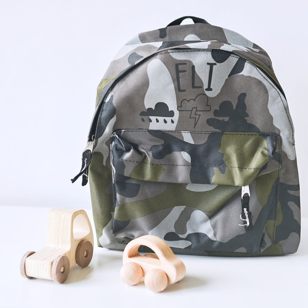 Storm/Camo Personalised Mini Backpack