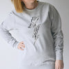 'Super Mum' Zebra Lightning Bolt Sweatshirt