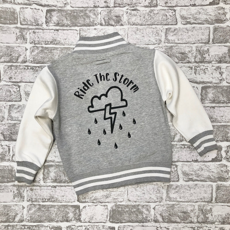 'Ride The Storm' Kids Baseball Jacket