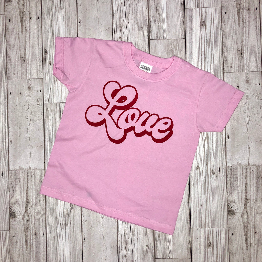 Pink/Red Girls LOVE T-Shirt