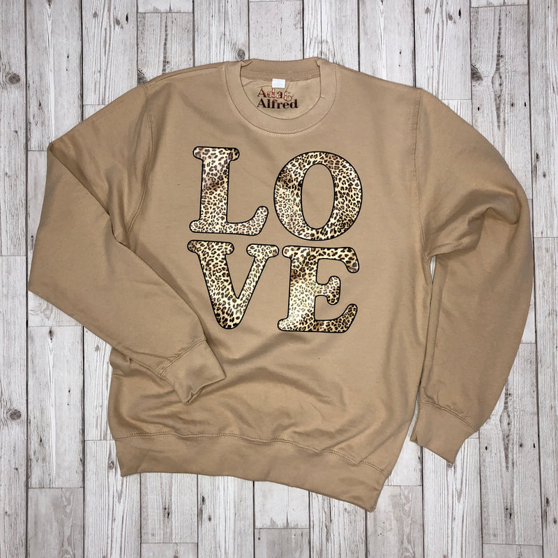Leopard LOVE Sweatshirt