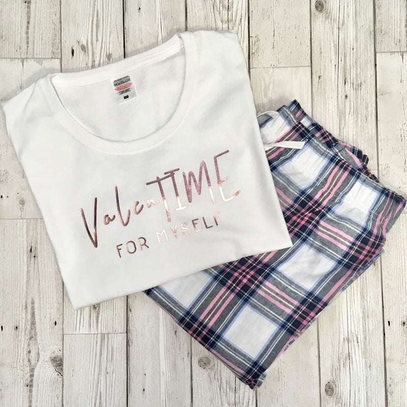 'ValenTIME for myself' Ladies Pyjama Set