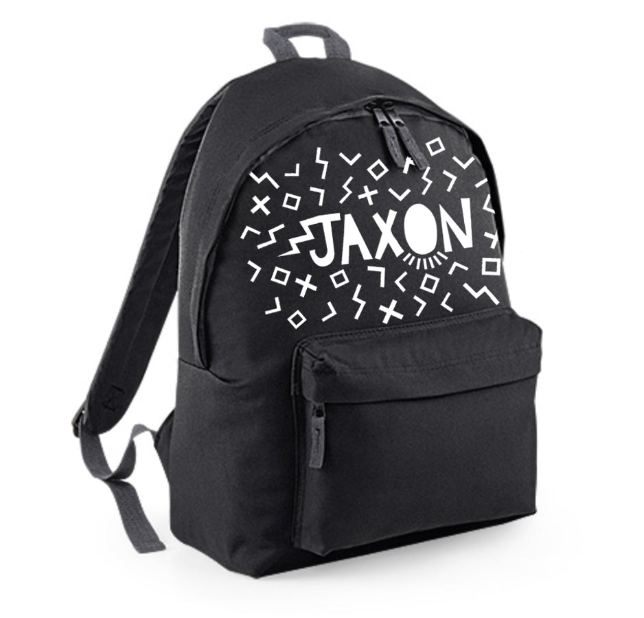 Personalised Junior Backpack - Scattered Shapes