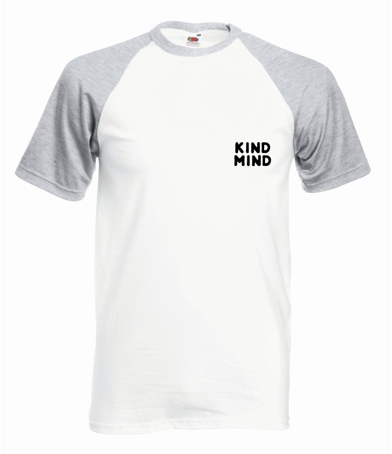 'Kind Mind' Mens Raglan T-Shirt
