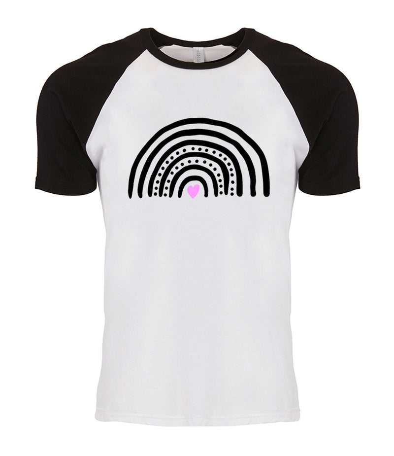 Ladies Rainbow Raglan T-Shirt - Unisex Fit