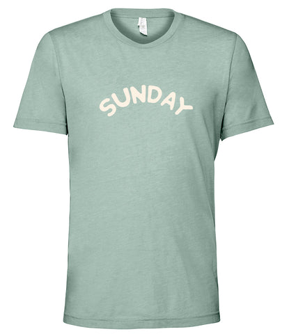'SUNDAY' Casual T-shirt - Dusty Blue
