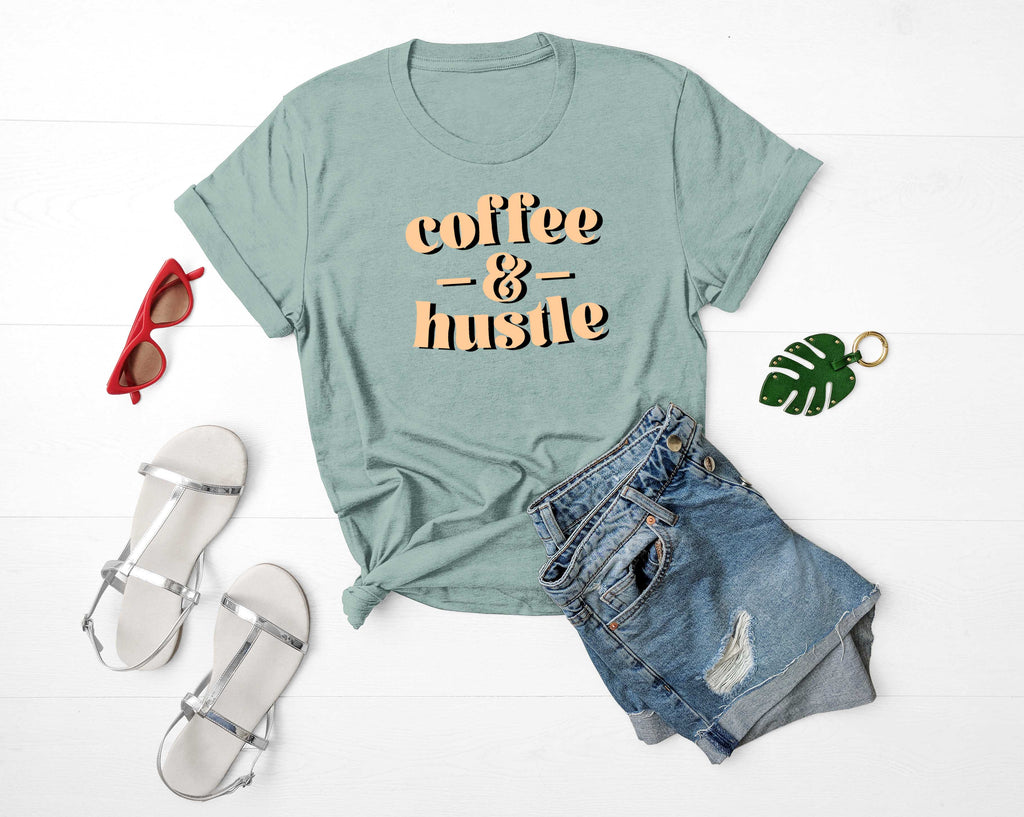 'Coffee & Hustle' Unisex Fit T-Shirt