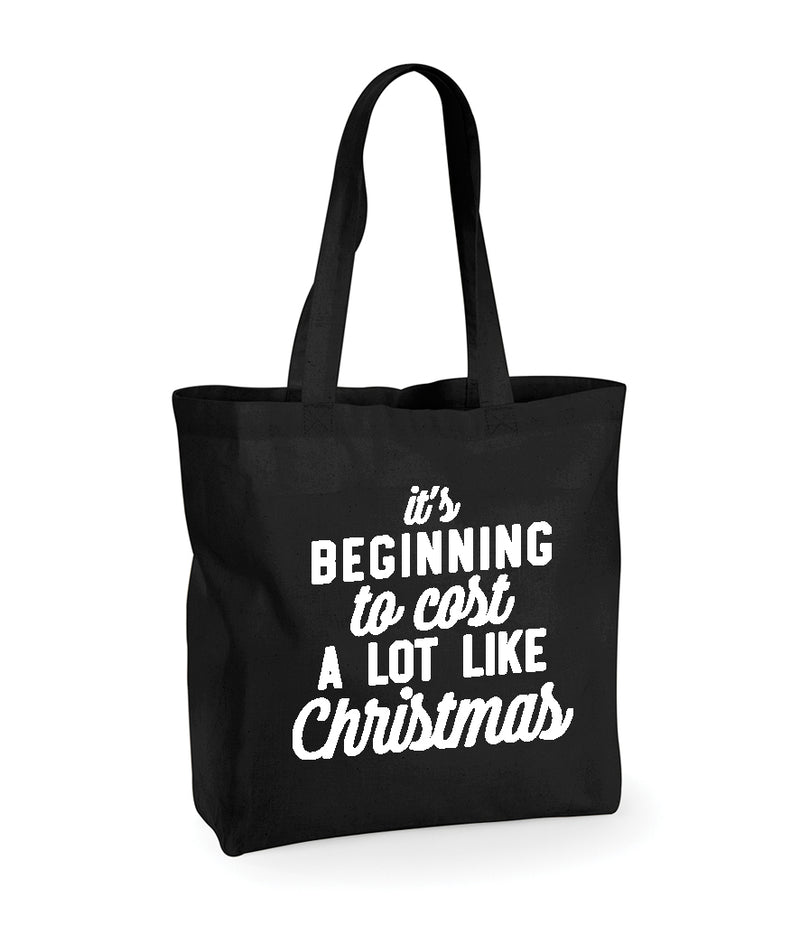 'It's Beginning To Cost A Lot Like Christmas' Shopper Bag