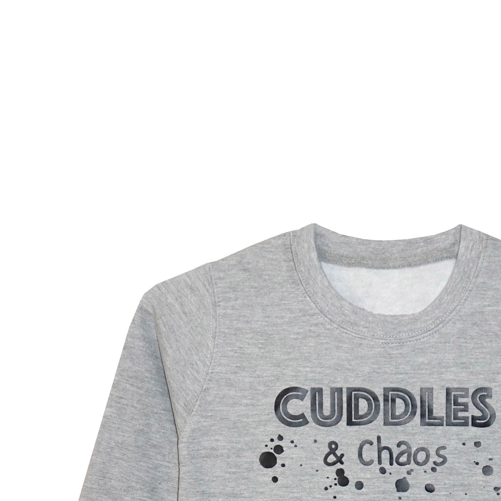 'Cuddles & Chaos' Older Kids Sweatshirt