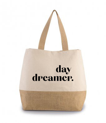 PRE ORDER Day Dreamer Canvas & Jute Shopper