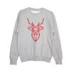'Santa is totally sleighing it' Unisex Fit Sweatshirt - Fire Red