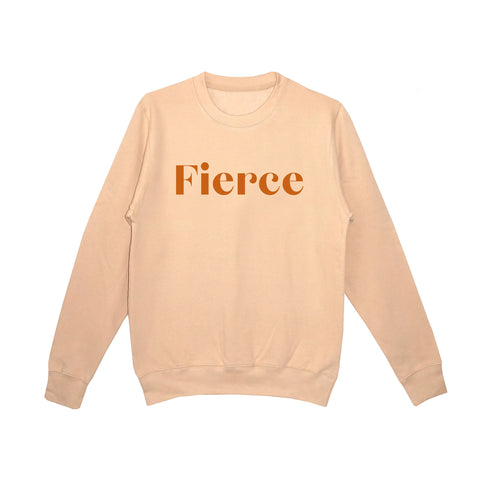 'Fierce and Female' Unisex Fit Sweatshirt - Navy/Copper