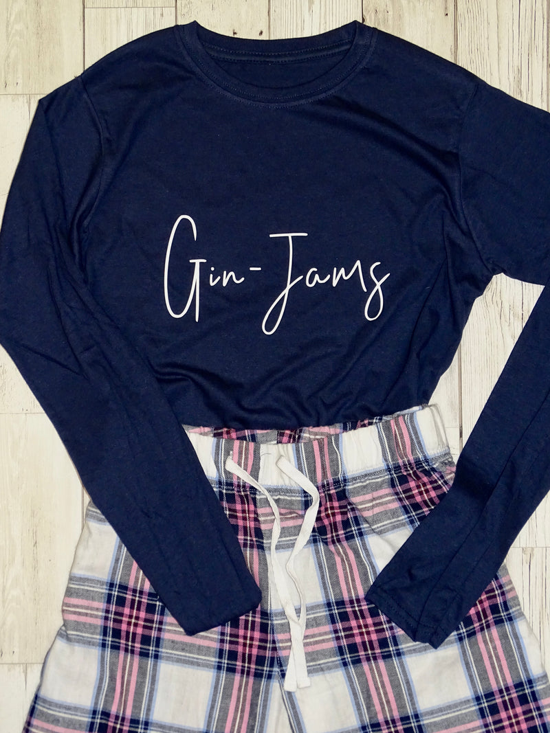'Gin-Jams' Ladies Cotton Pyjama Set