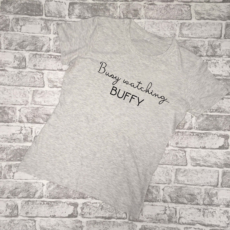 'Busy Watching'... ladies T-shirt