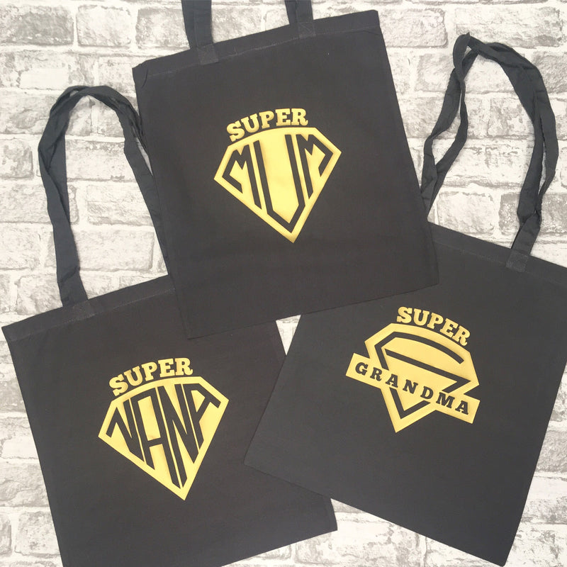 Superhero badge Mum/Grandma/Nana Tote Bag