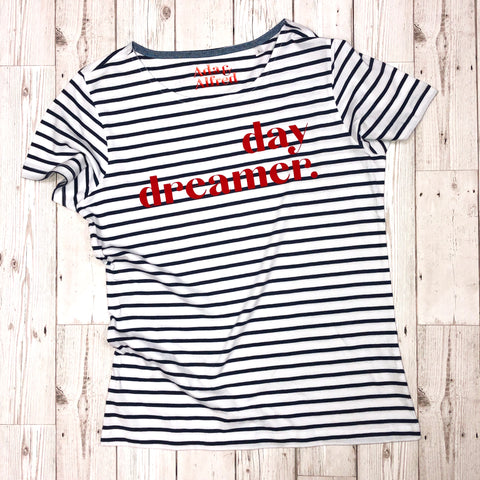 'and breathe...' Unisex Striped T-shirt*