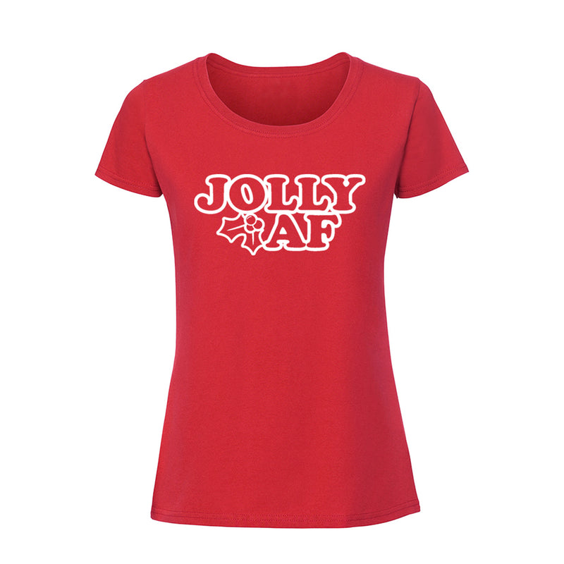 'Jolly AF' Ladies Fit T-Shirt
