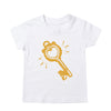 'Super Kid' Lightning T-Shirt - Light Grey Marl