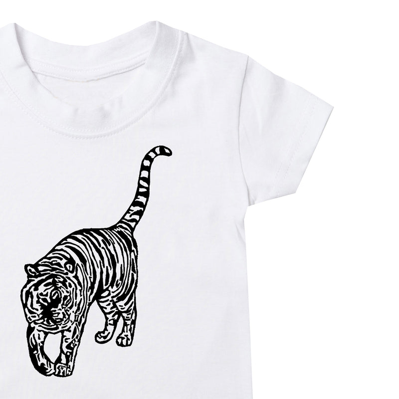 Prowling Tiger Kids T-Shirt - White
