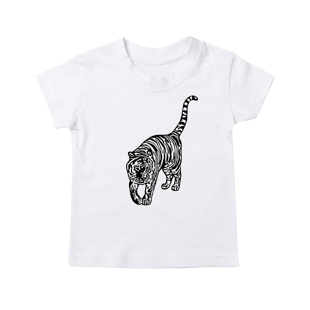 Prowling Tiger Kids T-Shirt - White*