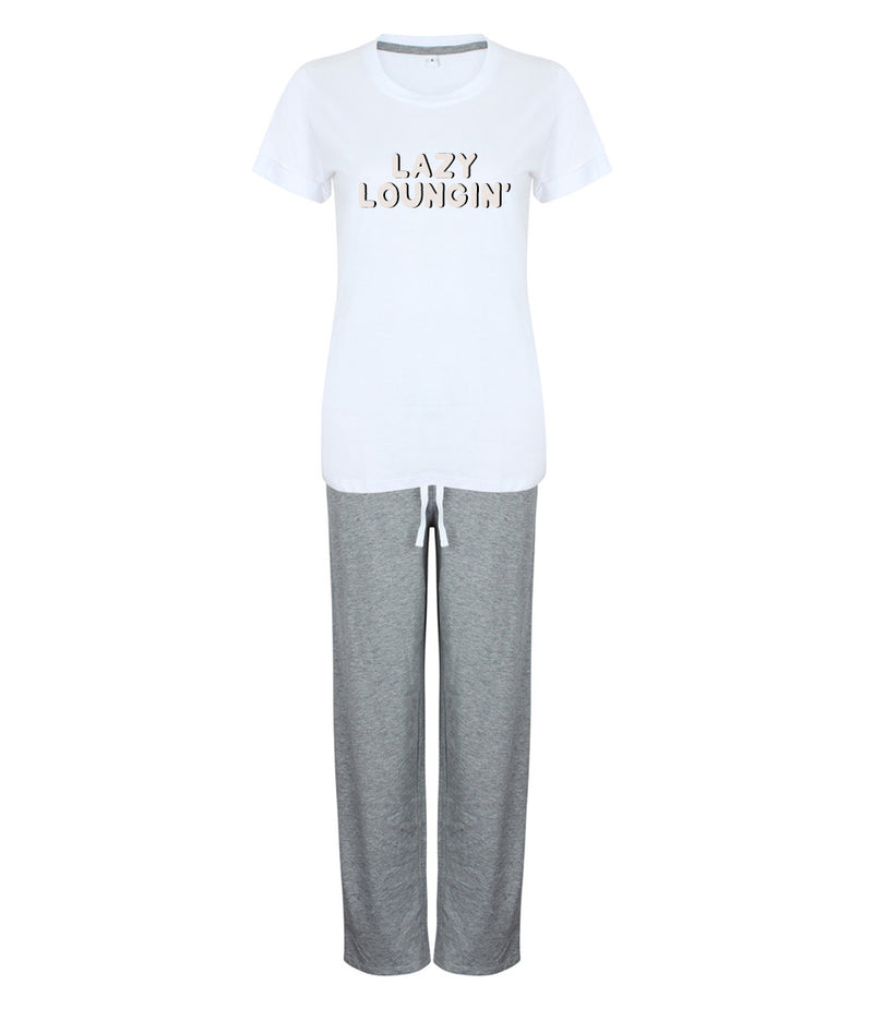 "'LAZY LOUNGIN"" Ladies Pyjamas"