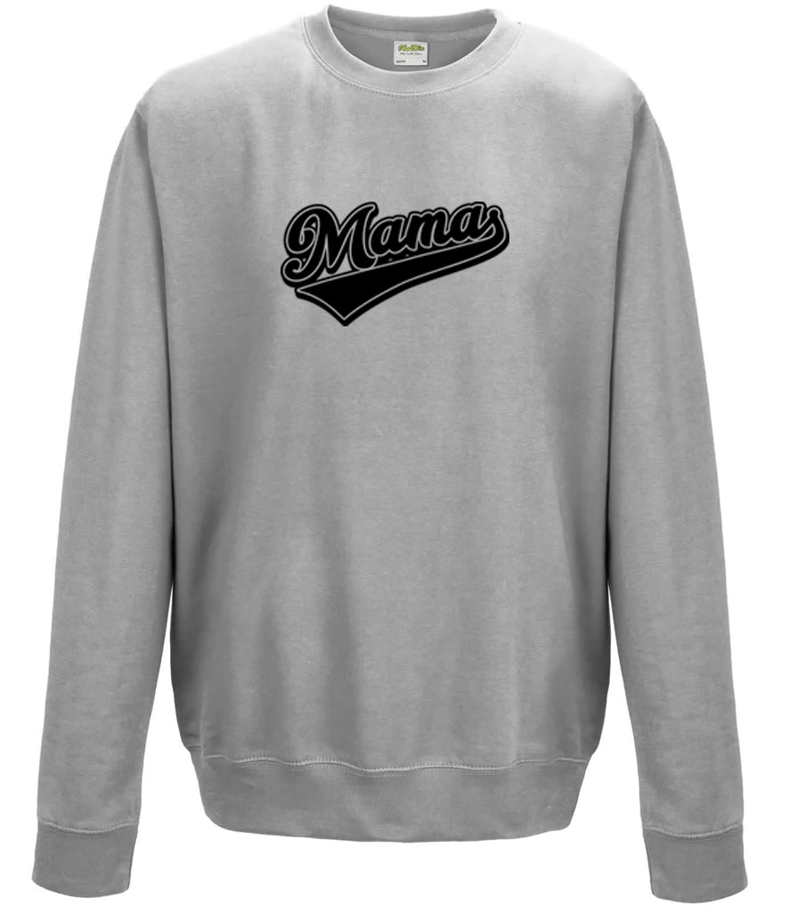 'Mama' Logo Heather Grey Unisex Fit Sweatshirt