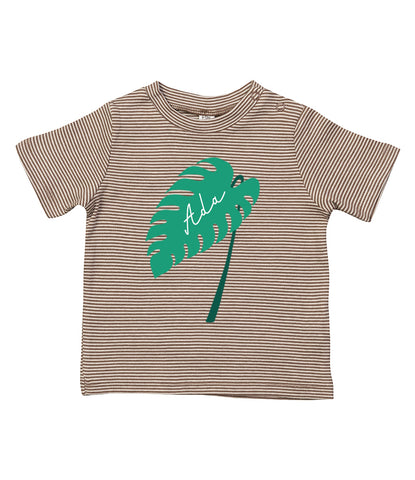 Personalised Monstera Leaf Romper