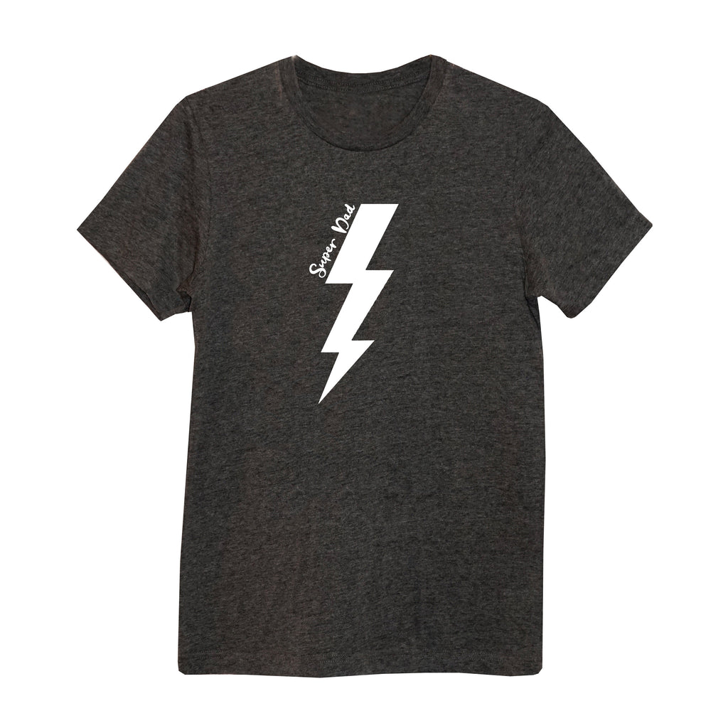 'Super Dad' Lightning Bolt Mens T-Shirt