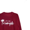 Tea and Triumph Unisex Sweatshirt - Burgundy/Silver*
