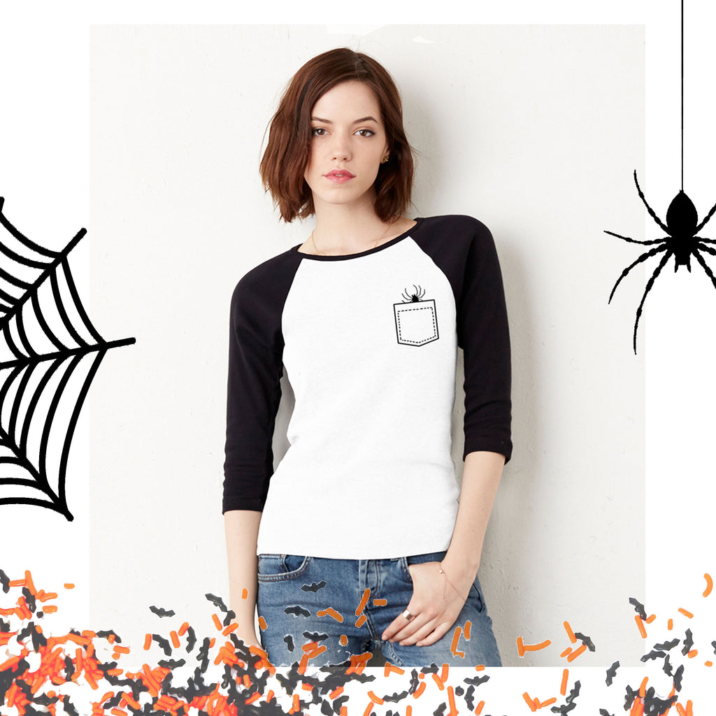 'There's a spider in my pocket' Raglan T-Shirt