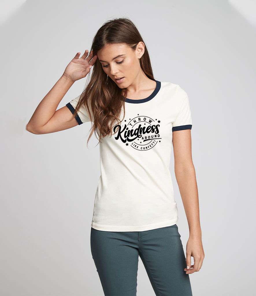 'Throw kindness around like confetti' Unisex Fit T-Shirt