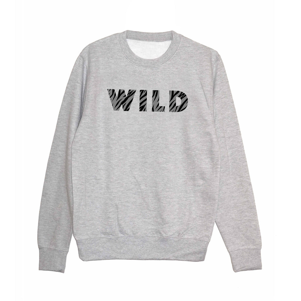 'WILD' Unisex Sweatshirt - Heather Grey*