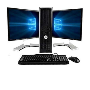 OptiPlex Computer Package Dual Core 3.0,New 8GB RAM, 250GB HDD, Windows 10 Home Edition, Dual 19