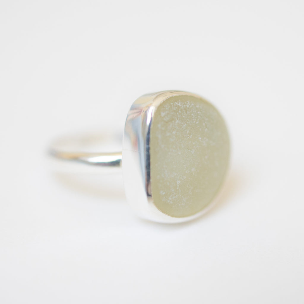 BEACH GLASS RING - SIZE Q (3) Ring Spindrift Collections